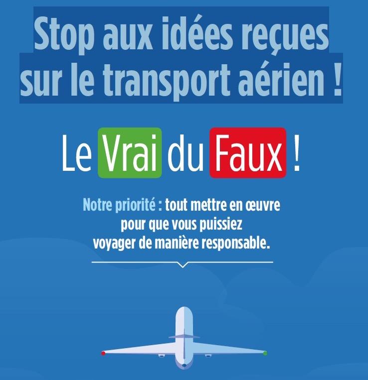 """Transport aérien et climat : """"stop aux idées reçues"""""""