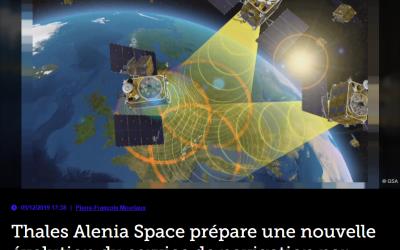 Thales Alenia Space prépare une nouvelle évolution du service de navigation par satellite Egnos
