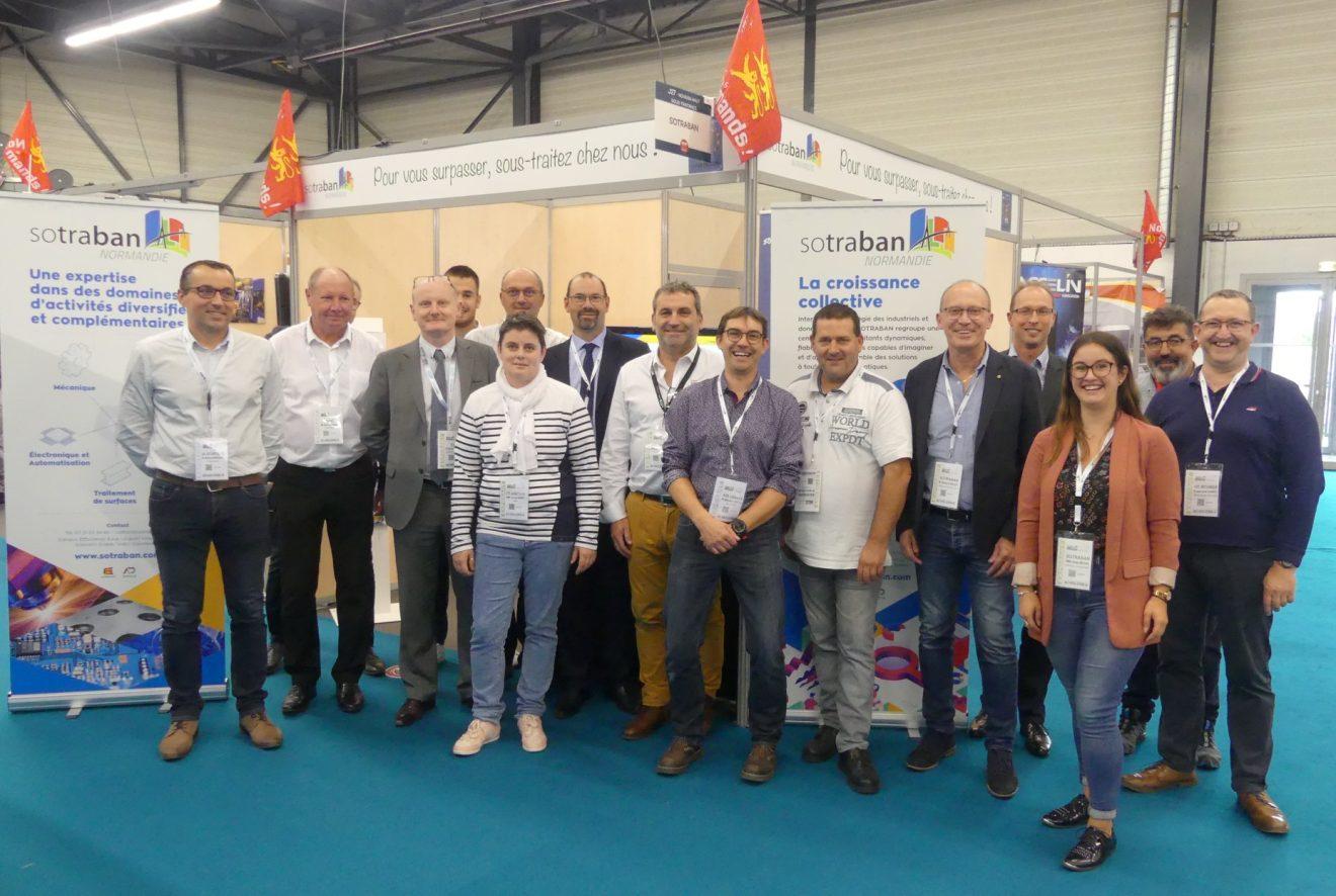 l'équipe SOTRABAN et des adhérents pendant le SEPEM d'Angers en octobre dernier
