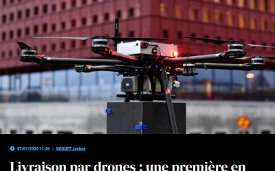 Livraison par drones: une première en Suède