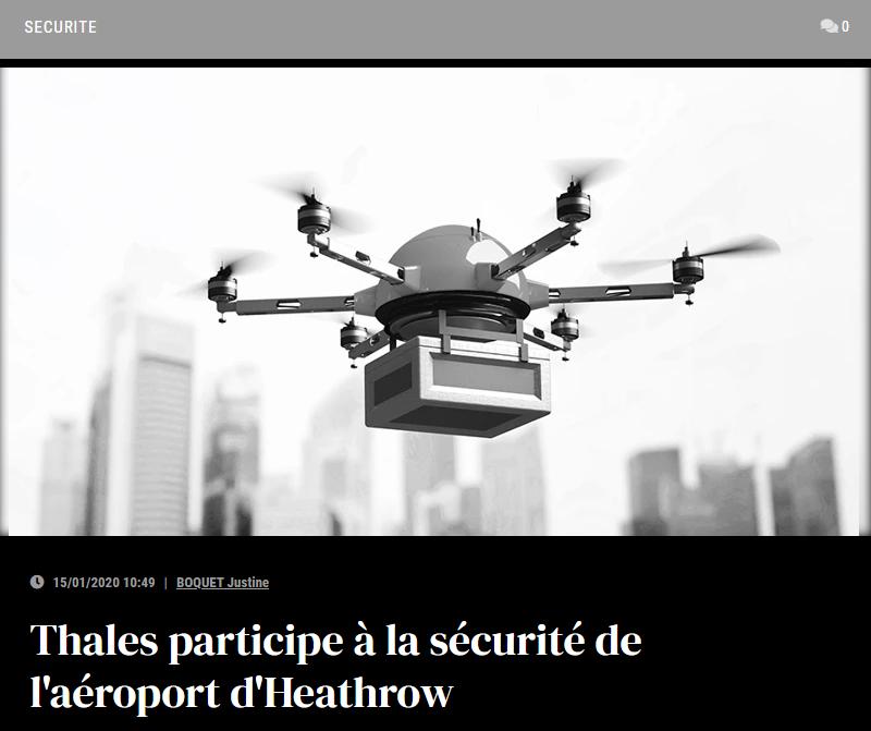 Thales participe à la sécurité de l'aéroport d'Heathrow