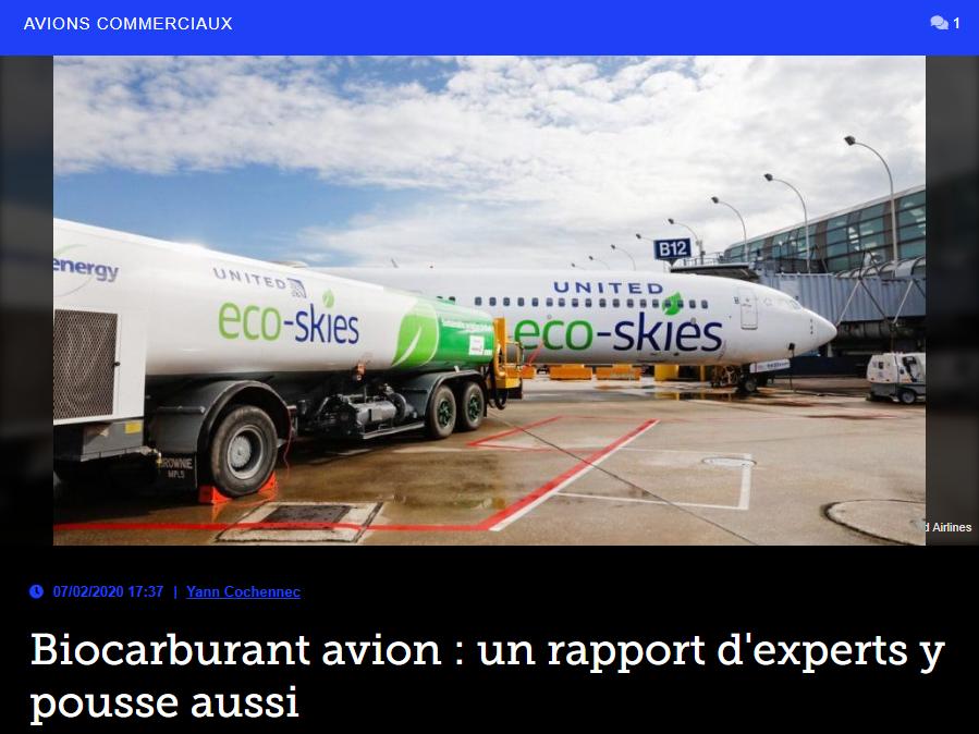 Biocarburant avion : un rapport d'experts y pousse aussi