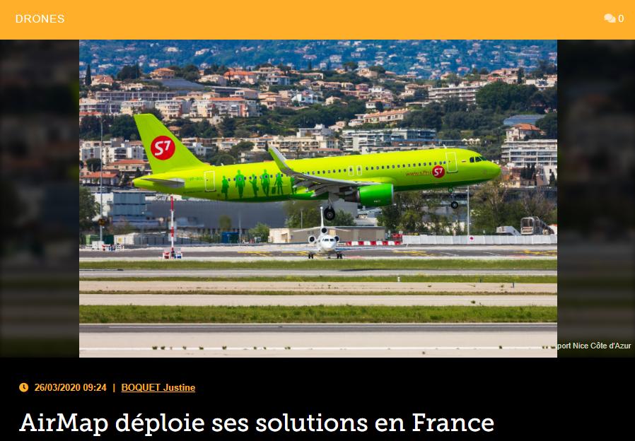 AirMap déploie ses solutions en France