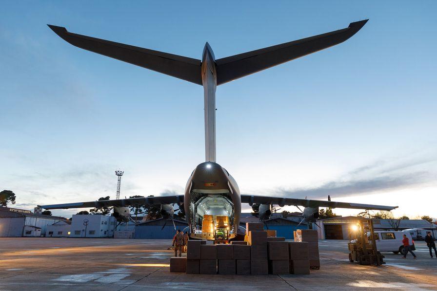 [L'image du jour] Airbus livre des masques à l'Espagne avec un A440M – Image du jour