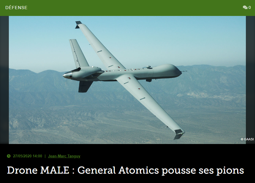 Drone MALE : General Atomics pousse ses pions