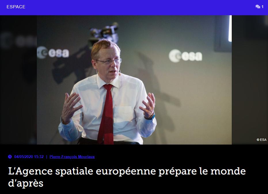 L'Agence spatiale européenne prépare le monde d'après