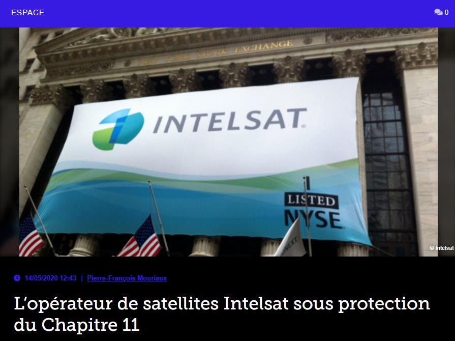L'opérateur de satellites Intelsat sous protection du Chapitre 11