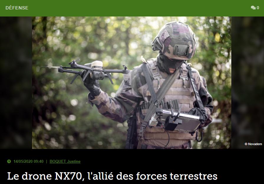 Le drone NX70, l'allié des forces terrestres