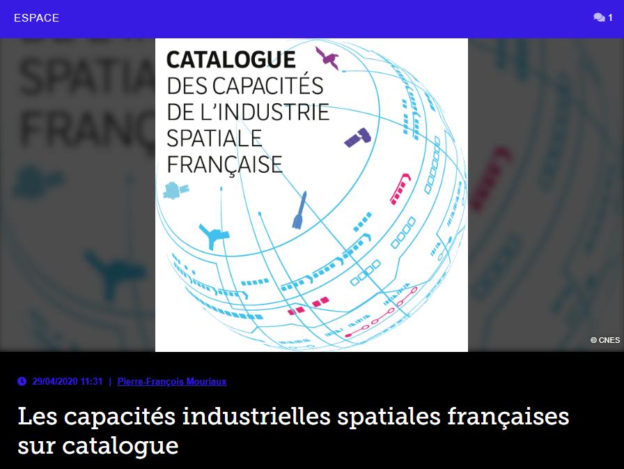 Les capacités industrielles spatiales françaises sur catalogue