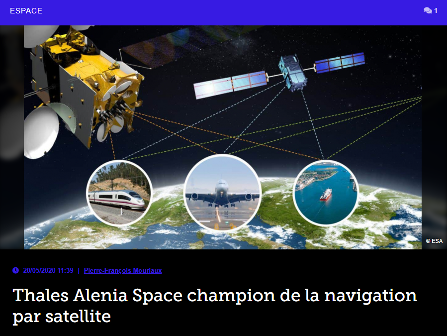Thales Alenia Space champion de la navigation par satellite