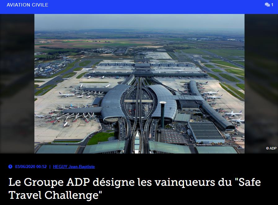 Le Groupe ADP désigne les vainqueurs du «Safe Travel Challenge»