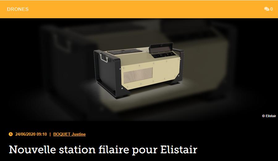 Nouvelle station filaire pour Elistair