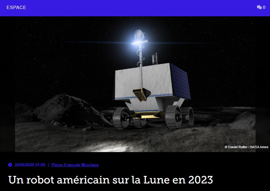 Un robot américain sur la Lune en 2023