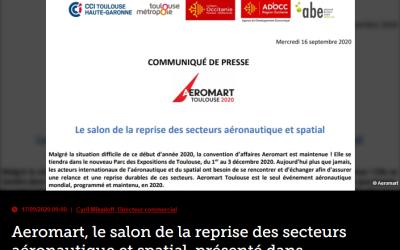 Aeromart, le salon de la reprise des secteurs aéronautique et spatial, présenté dans Air&Cosmos du 27 novembre