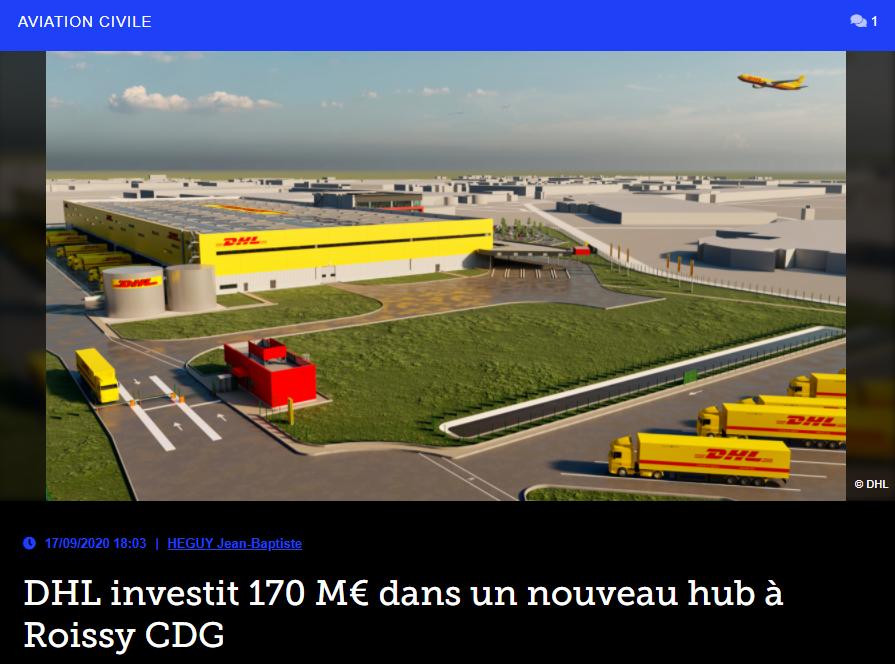DHL investit 170 M€ dans un nouveau hub à Roissy CDG