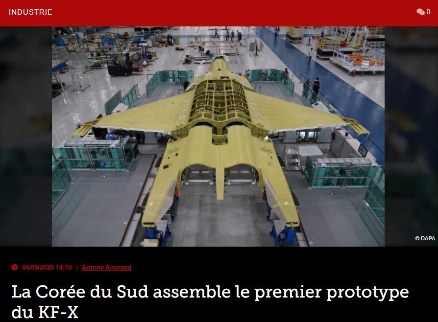 La Corée du Sud assemble le premier prototype du KF-X