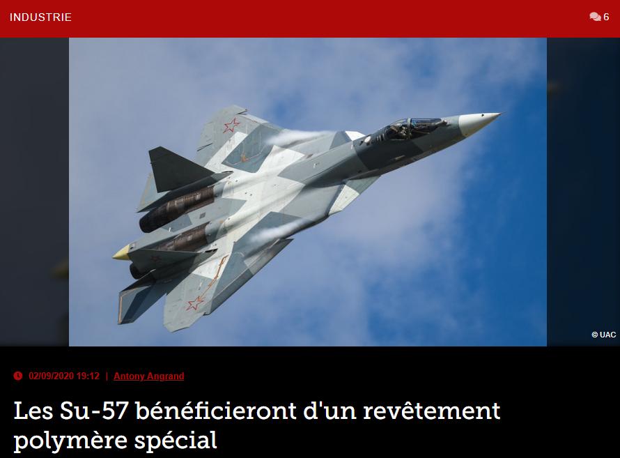 Les Su-57 bénéficieront d'un revêtement polymère spécial