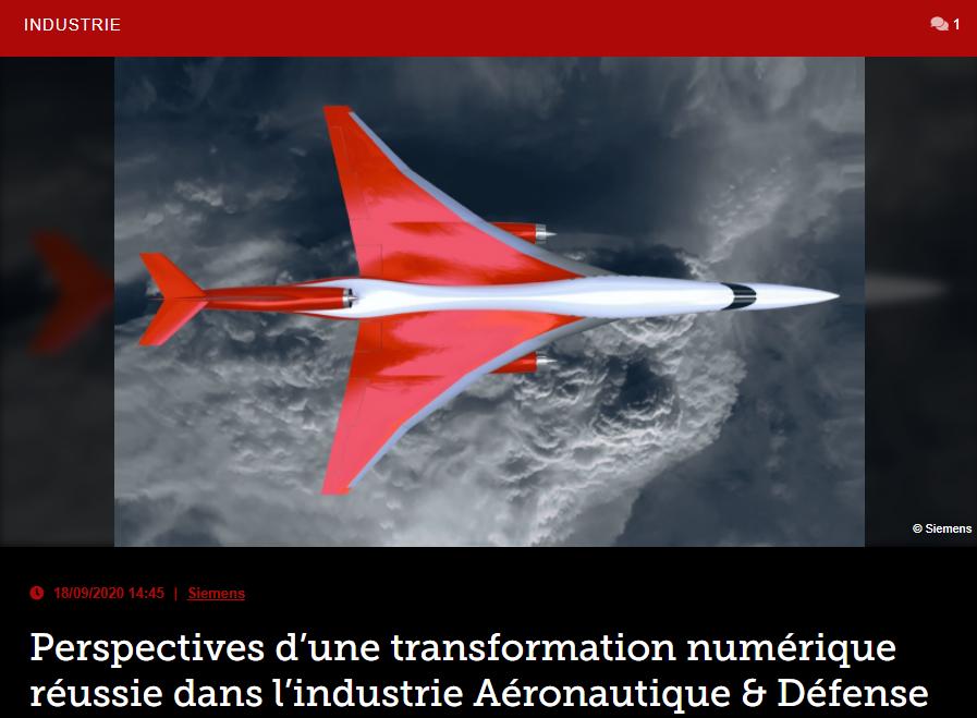 Perspectives d'une transformation numérique réussie dans l'industrie Aéronautique & Défense