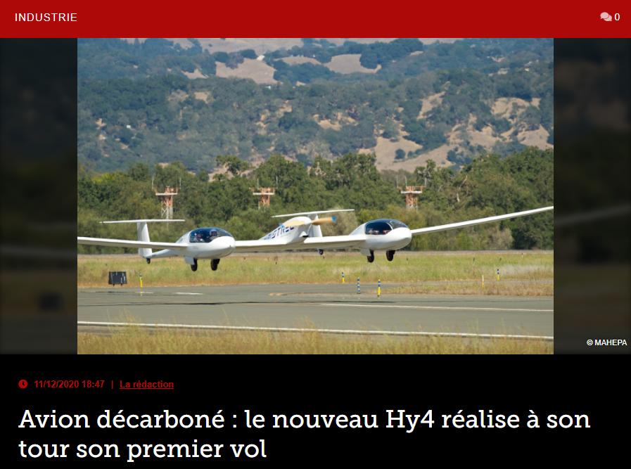 Avion décarboné : le nouveau Hy4 réalise à son tour son premier vol