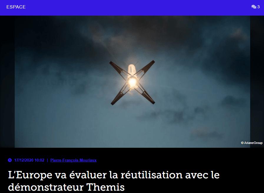 L'Europe va évaluer la réutilisation avec le démonstrateur Themis