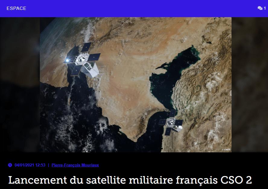 Lancement du satellite militaire français CSO 2