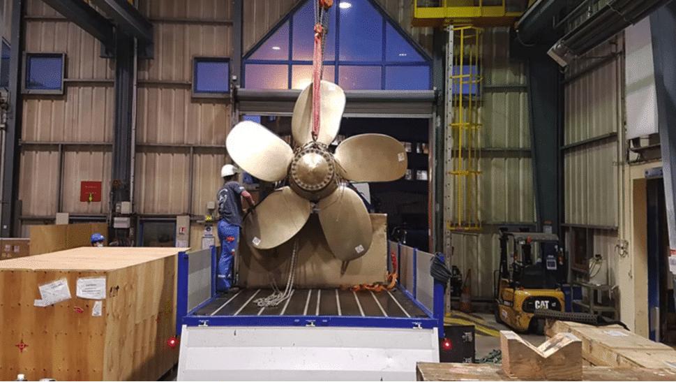 Naval Group réalise sa première hélice par fabrication additive   Les Echos