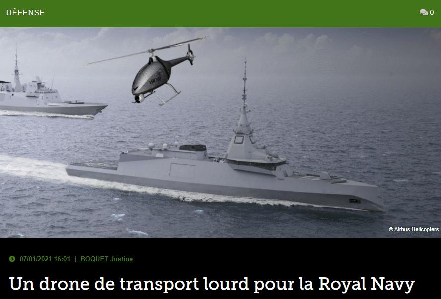 Un drone de transport lourd pour la Royal Navy