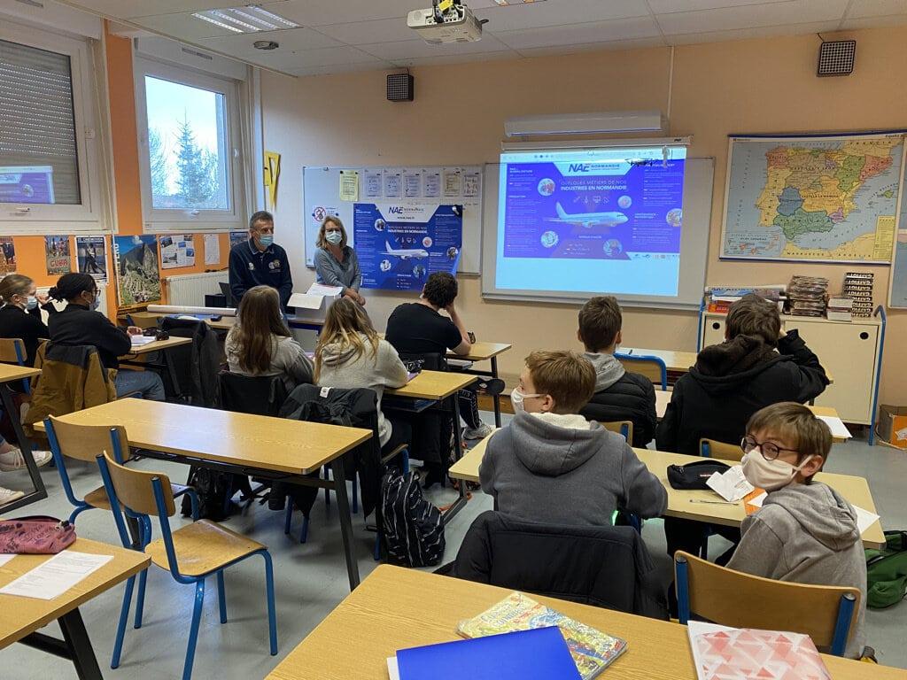 NAE entame une grande tournée des collèges et lycées normands pour contribuer à l'information métier, l'orientation scolaire et professionnelle