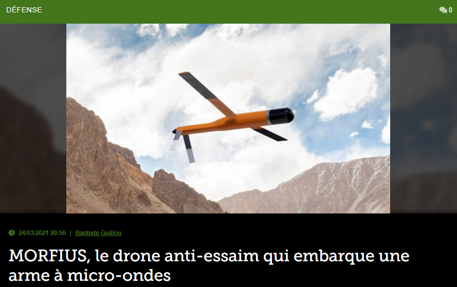 MORFIUS,le drone anti-essaim qui embarque une arme à micro-ondes