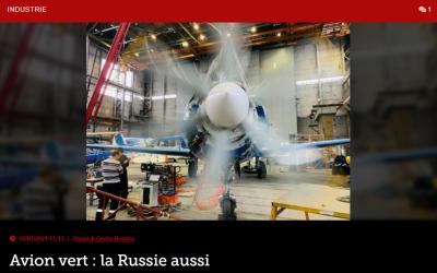 Avion vert : la Russie aussi
