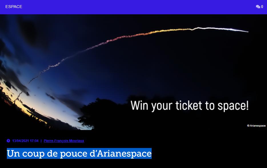Un coup de pouce d'Arianespace