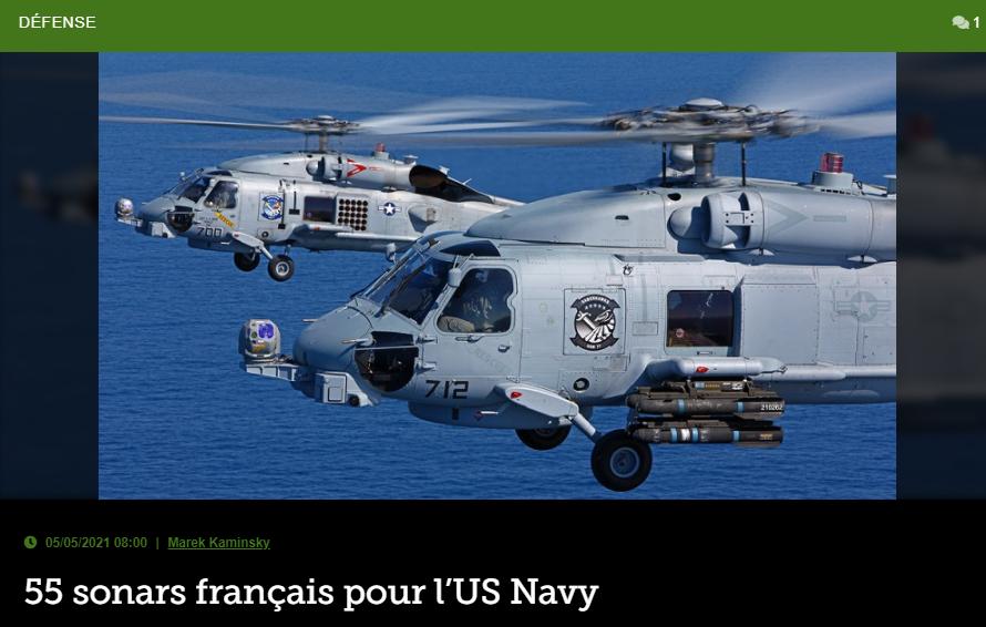 55 sonars français pour l'US Navy