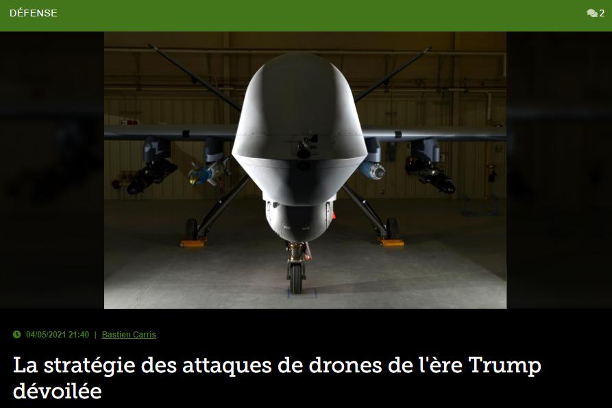 La stratégie des attaques de drones de l'ère Trump dévoilée