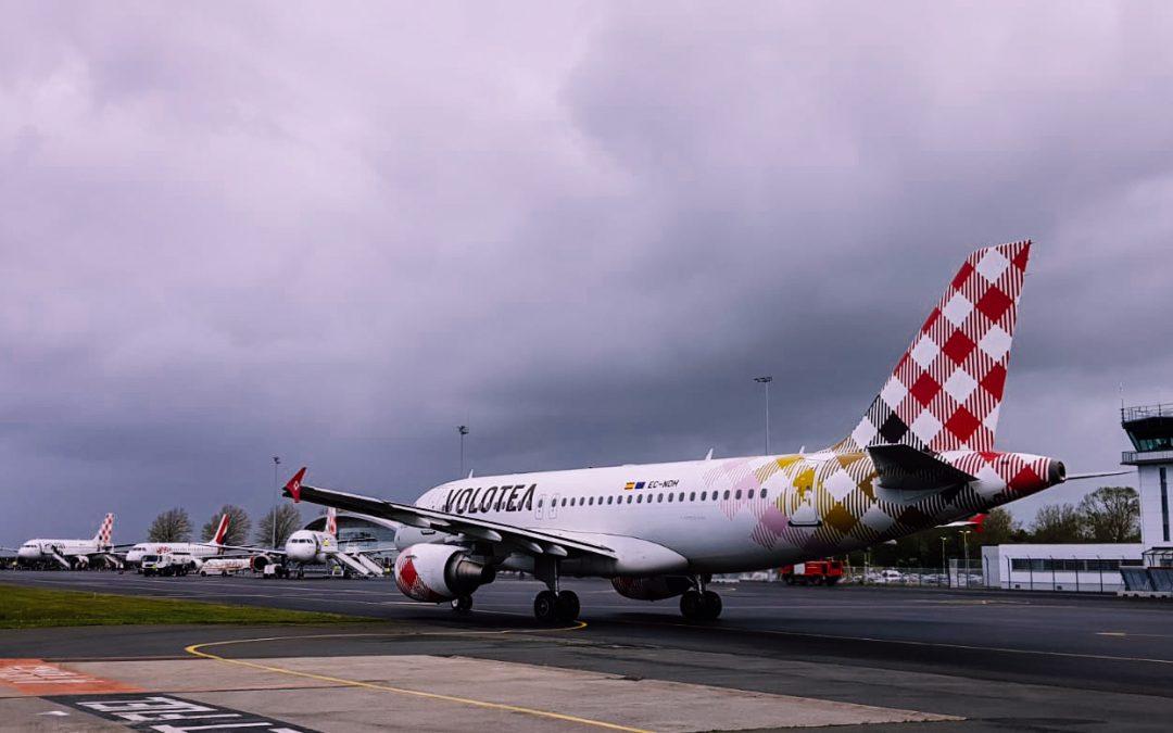 Aéroport de Caen : Reprise des vols Volotea, nouvelle destination vers Biarritz et point ressources humaines