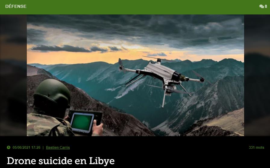 Drone suicide autonome en Lybie