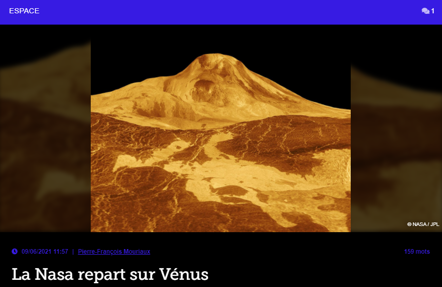 La Nasa repart sur Vénus