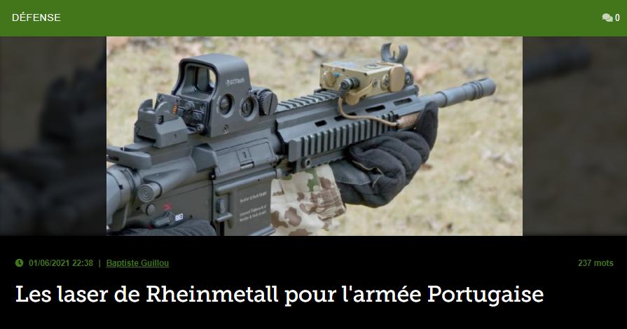 Les laser de Rheinmetall pour l'armée Portugaise