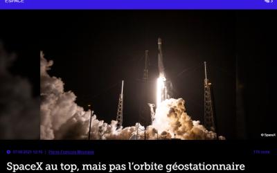 SpaceX au top, mais pas l'orbite géostationnaire