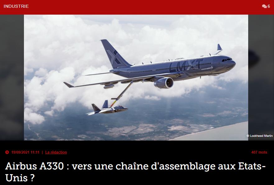 Airbus A330 : vers une chaîne d'assemblage aux Etats-Unis ?
