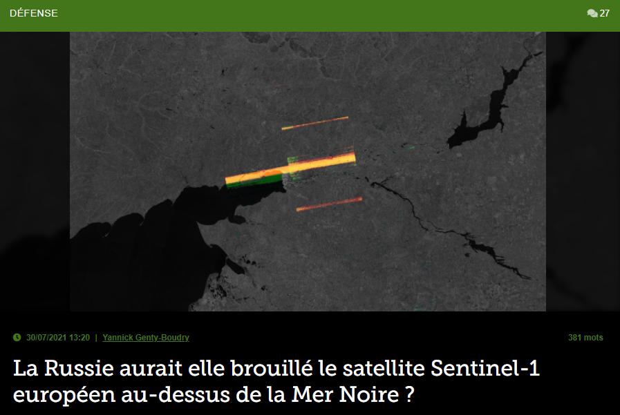 La Russie aurait elle brouillé le satellite Sentinel-1 européen au-dessus de la Mer Noire ?