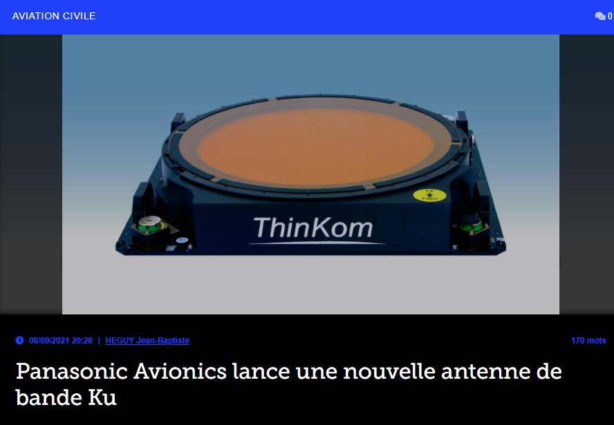 Panasonic Avionics lance une nouvelle antenne de bande Ku